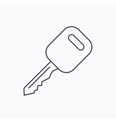 Car key icon transportat lock sign vector