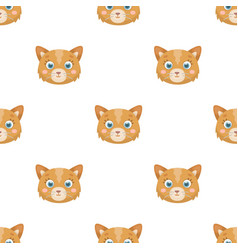 Cat muzzle icon in cartoon style isolated on white vector