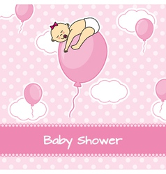 Child sleeping on top of a balloon vector