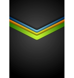 Colorful arrows on dark background vector image vector image