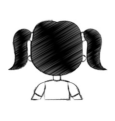 Cute little girl with back vector