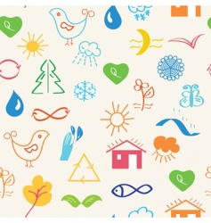 environmental pattern vector image