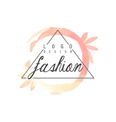 Fashion logo design badge for clothes boutique vector