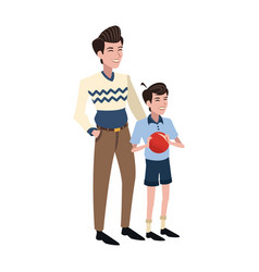 Father and son icon vector