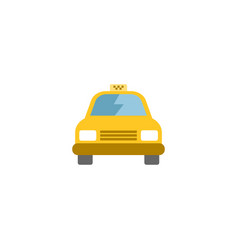 flat taxi element of flat cab vector image