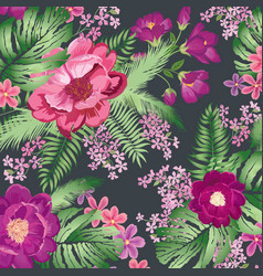 Floral pattern flower bouquet spring garden vector