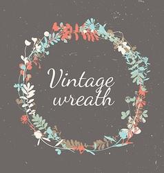 Floral vintage frame - wreath vector
