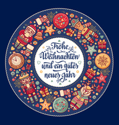 Frohe weihnacht xmas congratulations in germany vector