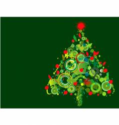 grunge Christmas tree vector image vector image