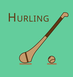 Hurling game irish hurling hurley and vector