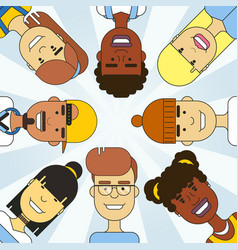international multicultural people circle vector image