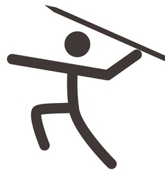 Javelin throw icon vector