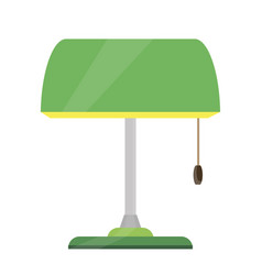 lamp bankers desk green icon bank base brass vector image vector image