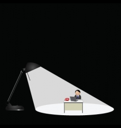 lamp worker vector image vector image