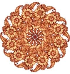 Mehndi henna tattoo style mandala vector