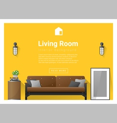 Modern living room Interior background 2 vector image vector image