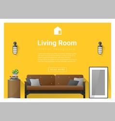 Modern living room interior background 2 vector