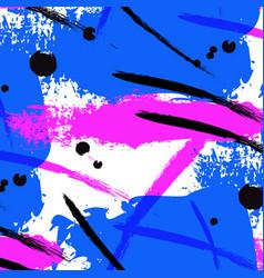 Neon splash brush stroke liquid bright vector