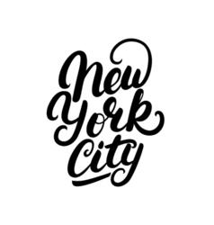 New york city hand written lettering vector