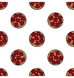 Pizza flat pattern vector