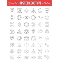 Set of vintage geometric Hipster retro labels vector image vector image