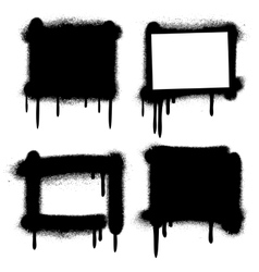 Spray paint graffiti grunge frames banners vector