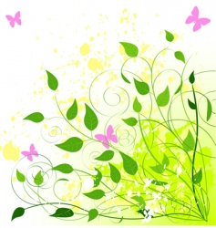 summer leaves vector image