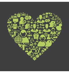 Users heart vector image
