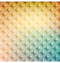 Vintage abstract circle pattern with decorative vector image