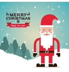 Merry christmas santa design vector