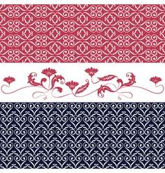 Ornaments floral vector image