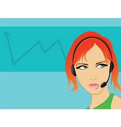 Call Center Receptionist vector image