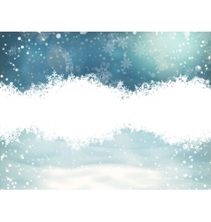 Christmas background with snowflakes EPS 10 vector image