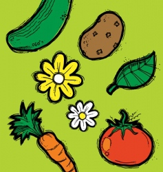 garden elements vector image