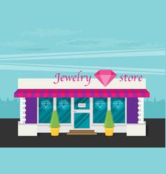 facade of jewelry flat vector image