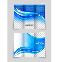 Tri-fold brochure template design vector