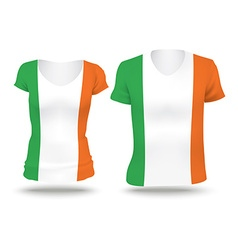 Flag shirt design of ireland vector