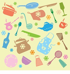 Hand drawn kitchenware vector image