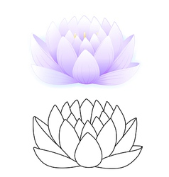 Blue lotus vector