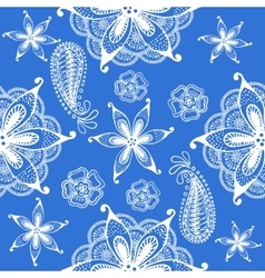 Seamless indian pattern blue vector