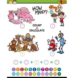 Mathematical activity for children vector