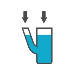 Communicating vessels icon vector