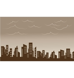 Beautiful city and skyline silhouettes vector