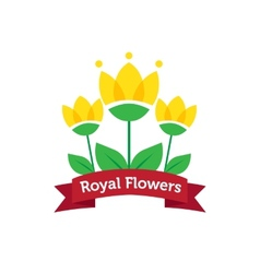 bright spa salon or flower shop logo vector image