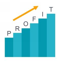 Business Profit concept vector image vector image