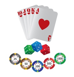 casino playing cards vector image vector image
