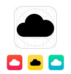 Cloud computing icon vector