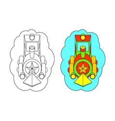 Color-In Locomotive vector image vector image