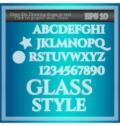 Glass graphic style vector