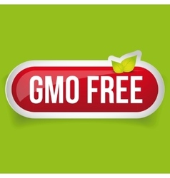 Gmo free icon button vector